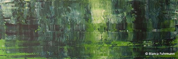 Grün  - Acryl auf Leinwand - (c) Bianca Fuhrmann - www.bianca-fahrmann-art.com   #bianca_fuhrmann_art