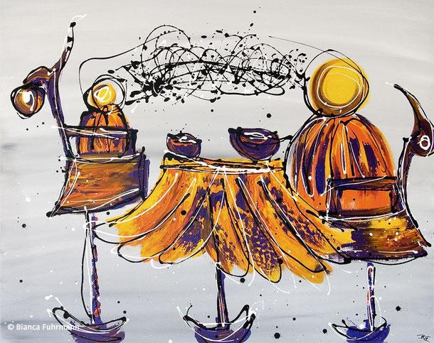 Das Zwiegespraech  - Acryl auf Leinwand - (c) Bianca Fuhrmann - www.bianca-fahrmann-art.com #bianca_fuhrmann_art