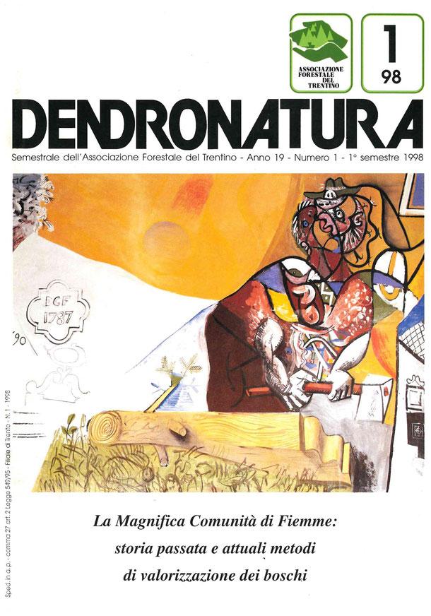 """Foto di copertina: Particolare dell'affresco """"I sogni della Bancalonga"""" - Riccardo Schweizer, 1992 - Comune di Siror, Val di Primiero (TN)"""