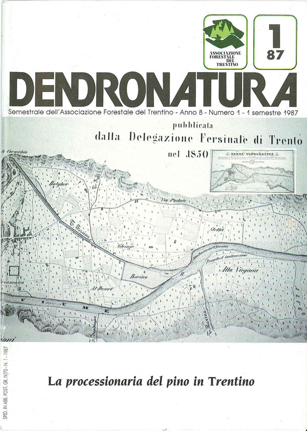Immagine di copertina: Carta topografica dei due Consorzi del torrente Fersina e della connessa inalveazione dell'Adige - Delegazione Fersinale di Trento nel 1850 -  Zippel editore.