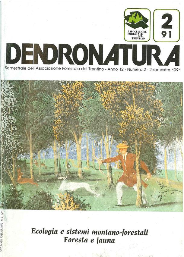 Foto di copertina (F. Faganello): il bosco in un affresco del '500 - Villa Margon - Ravina (TN)