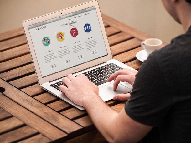 Webseite Website Webdesign Grafikdesign eigene Internetseite