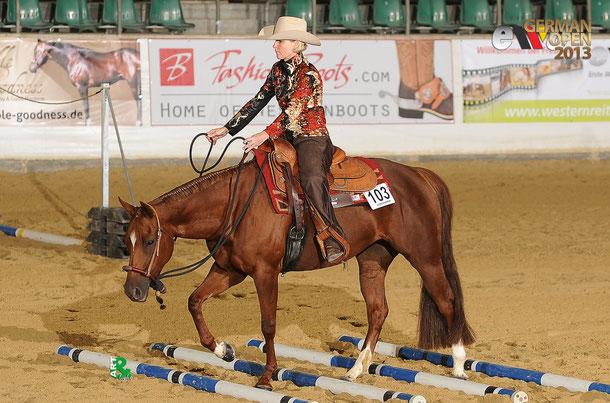 Pferd bei Turnierteilnahme , Trail
