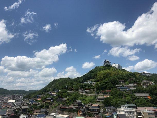 尾道市の山側の眺望