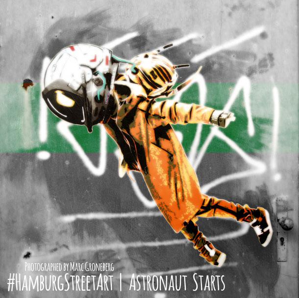 Hamburg Street Art | The Astronaut Starts | photographed by Marc Groneberg