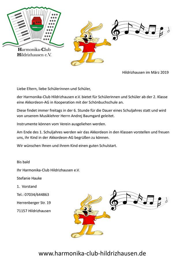 Musikschule Akkordeonverein Hildrizhausen