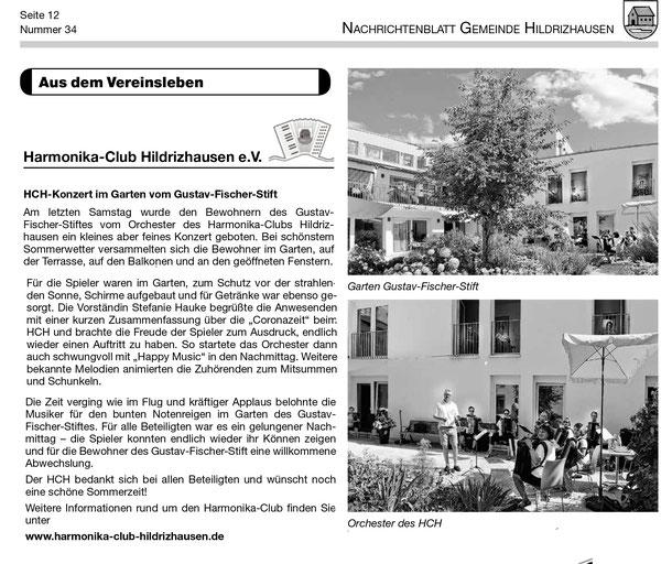 Akkordeon Ständchen Harmonika Club Hildrizhausen