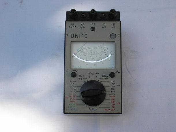 MTM Messtechnik Mellenbach DDR  Vielfach Multimeter UNI  10  von 1978