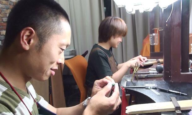 東京でマリッジリングを手作り