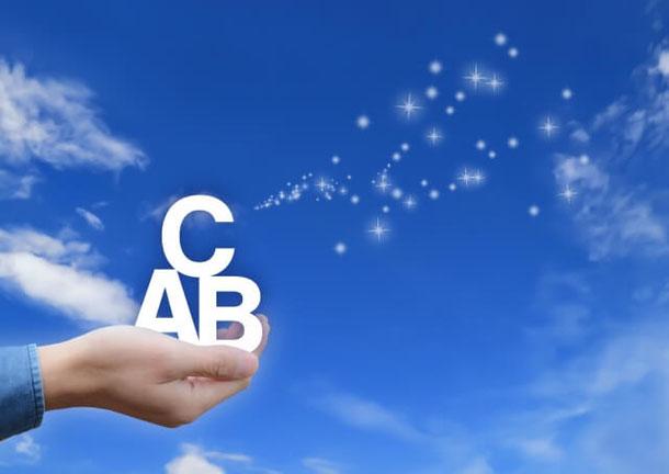青空とABCの文字の写真