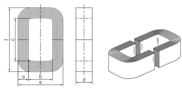 amorphe Schnittbandkerne entsprechend METGLAS Qualität AMCC-1- AMCC-1000