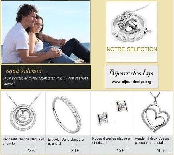 Saint Valentin bijoux pour tous les amoureux collection Bijoux des Lys