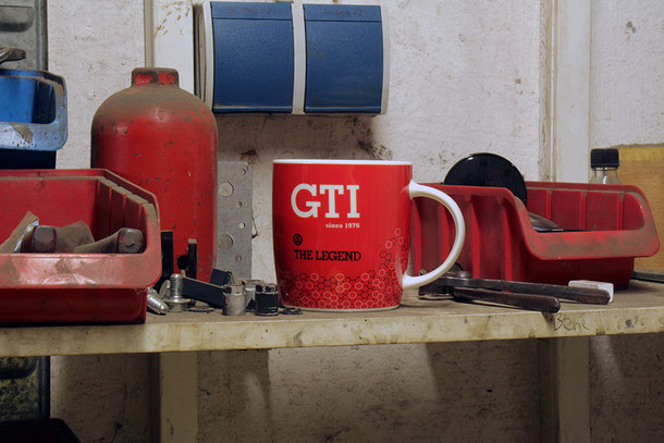 VW, GTI, KAFFEETASSE, 370ml, GESCHENKBOX,  THE LEGEND, ROT,Volkswagen