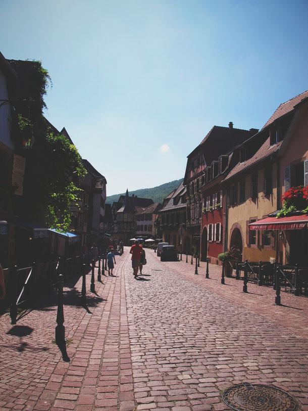 bigousteppes kaysersberg alsace france village pavés maisons