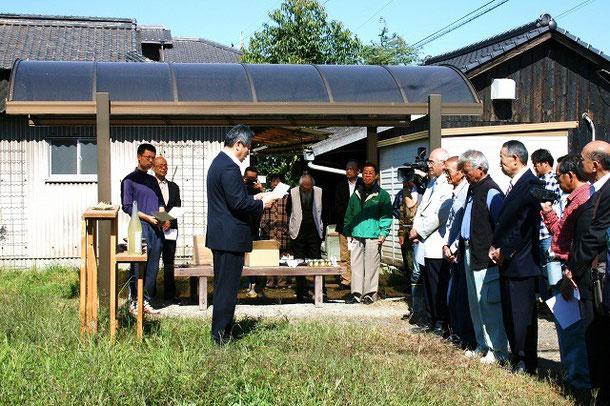 伊原木岡山県知事からのご祝電を読み上げていただきました