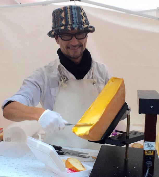 チーズの達人、梶田さんと一緒に、ラクレット屋さんをやりました。
