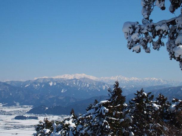 今日18日:山頂から望む白山。                                         期待通りの真っ白の白山、それが神々しく輝いて見える白山全貌です。