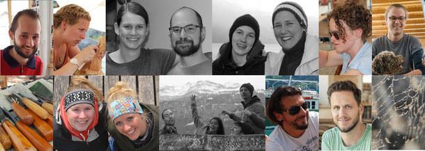 Teilnehmer der Schule für Holzbildhauerei Brienz sowie vom OK Team