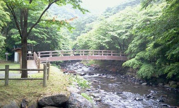 駐車場から大滝に向かう橋