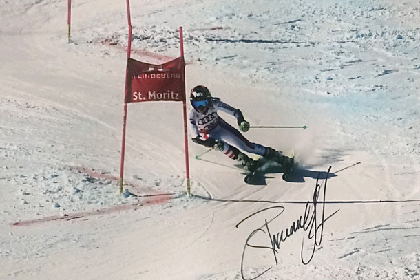 Stephanie Brunner Austria, Junior Worldchampion, Picture taken at Worldchampionship St. Moritz, Autograph by Mail