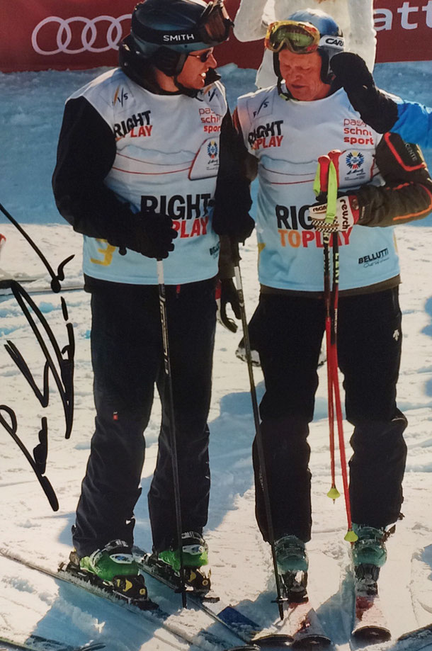 Paul Accola, retired Swiss Skier, 7 World Cup Races won, Bronze Medal Combined Olympia 1988, Twice World Champion Silver and 1 Bronze Medal, won the  World Cup 1992, Picture taken at Charity Race World Championship St. Moritz 2017, Autograph by Mail