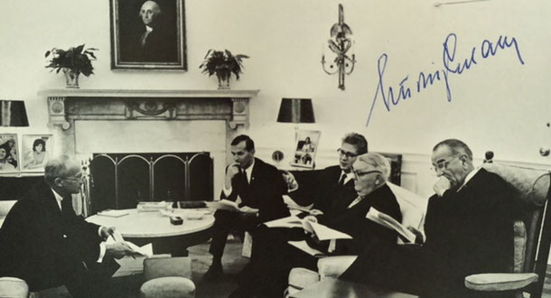 Autograph Ludwig Erhard Autogramm