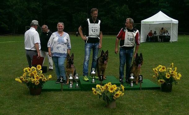 Gisela Kettner mit ihrer Tinkabell aus dem Seevetaler Grund Platz 2 und Landesgruppensiegerin