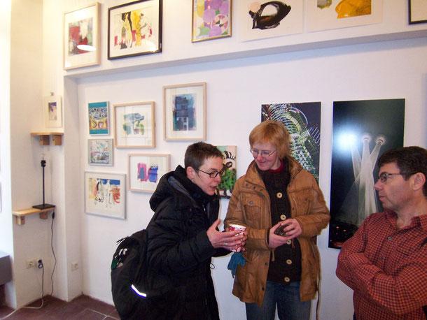 Sylvia Klein und Gudrun Lüpke in der Galerie SEHR