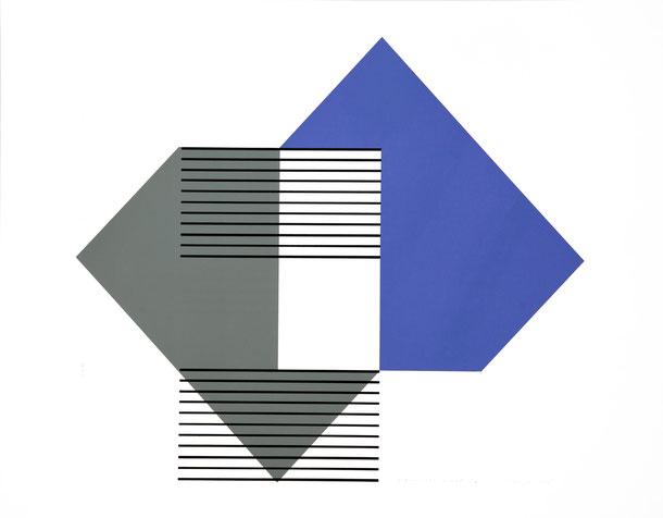 Heijo Hangen, sequenz 238 nr.: 12 +1, serigraphie 1998, 50 x 70 cm