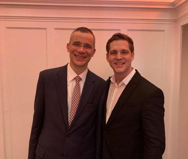 Rolf Slickers (Geschäftsführer Servitex) & Philipp Nagel (Geschäftsführer Vienna Textilservice)