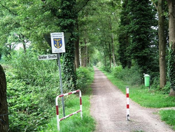 Ostfriesland Wanderweg, Wandelen met de honden