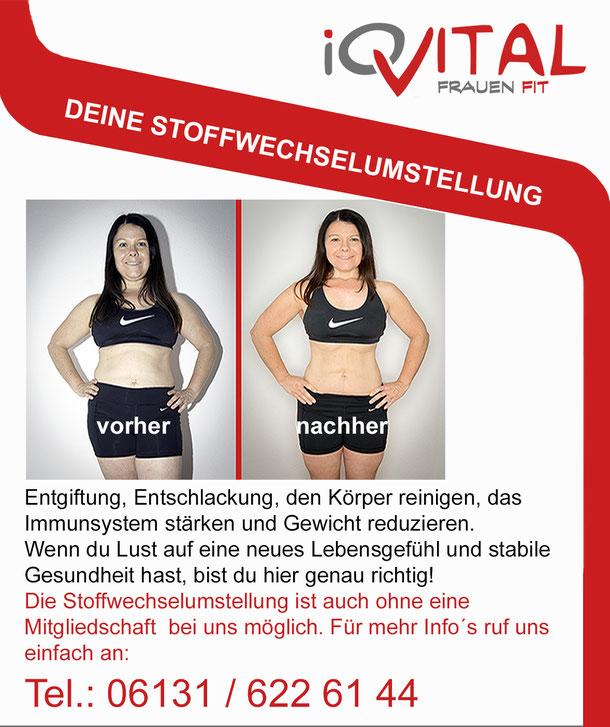 Stoffwechselumstellung ohne Mitgliedschaft bei iQvital Mainz