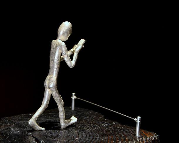 sculpture New Blindness Holger Schulz Småland Sweden silver wood