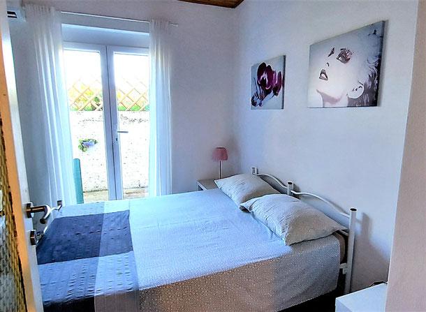 Green apt. - door window in the double bedroom- Belvedere apartments Izola