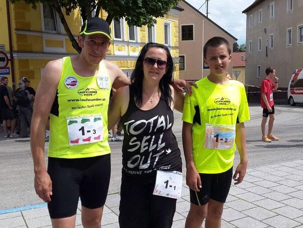 Das erfolgreiche Staffelteam Michael, Claudia und Sebastian