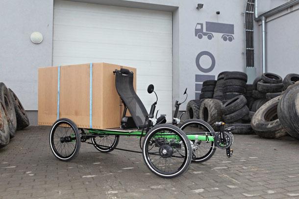 PONY 4 - das bequeme Lastenbike für enge Wege