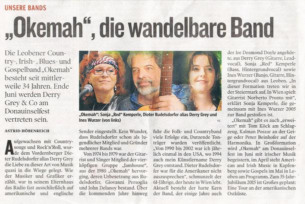Artikel vom 4.4.2014 Kleine Zeitung