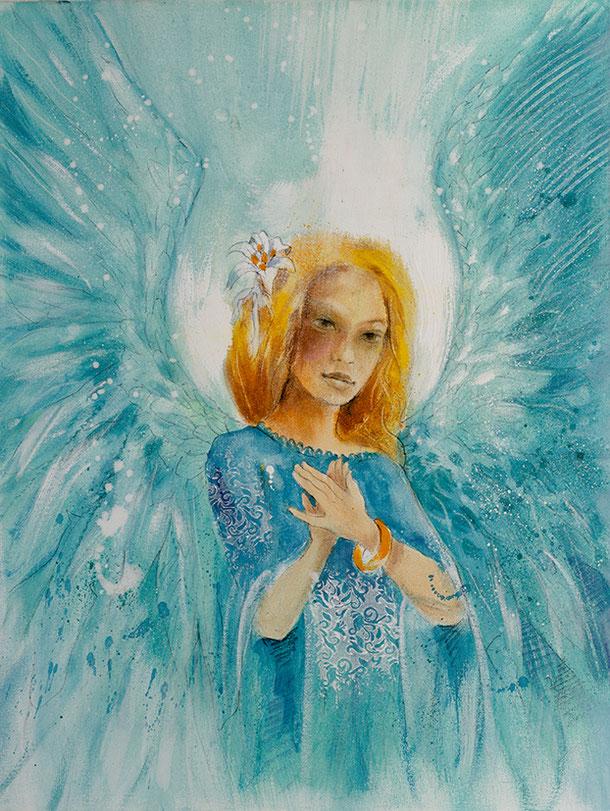 Engelbild Engel der Liebe / Berufung, Jana Haas, Engelkartendeck Ein Engel für dich Arkana Verlag