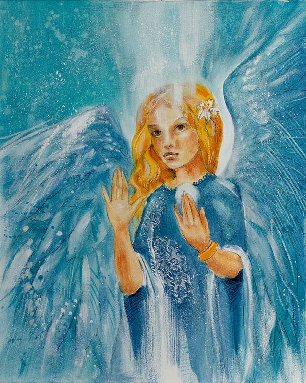 Engelbild Engel der Liebe / Grenzen setzen, Jana Haas, Engelkartendeck Ein Engel für dich Arkana Verlag
