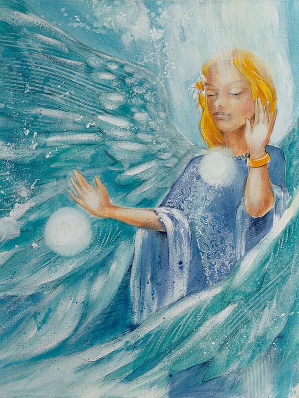 Engelbild Engel der Liebe / Partnerschaft, Jana Haas, Engelkartendeck Ein Engel für dich Arkana Verlag