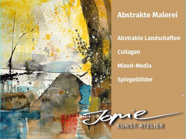 Abstrakte Malerei von Jopie #Jopie #abstraktemalerei #Collagen #mixedmedia #abstraktelandschaften