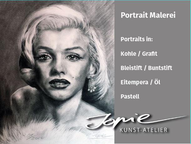 Portraitmaleier und Portraitzeichnungen von Jopie #kohlezeichnung #zeichnenlernen #Portraitzeichnen