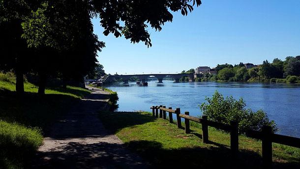 Bergerac, ambiance matinale d'un jour d'été