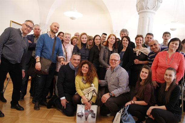 Die europäischen Partnerschulen der HLF Krems waren zu Besuch im Rathaus Krems. Foto: zVg
