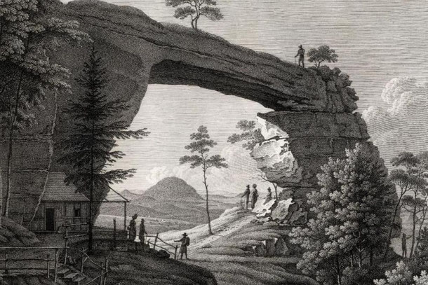 Prebischtor, Kupferstich 19. Jahrhundert