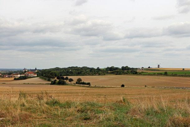 Landschaft an der D931 Route de Reims, Le Moulin de Chantereine - Champagne Ardenne