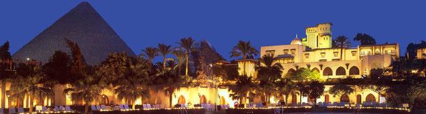 Ein Highlight während des Kairo - Aufenthaltes ist ein Besuch im legenderen Hotel Mena House Oberoi