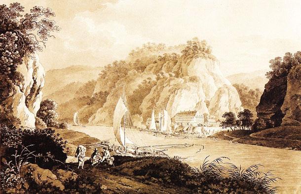 So sah der berühmte Maler Adrian Zingg (1734-1816) Ende d. 18. Jh. Herrnskretschen (Hrensko)