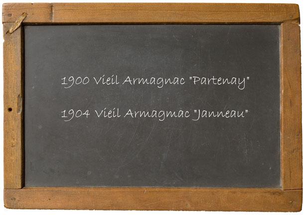 """1900 Vieil Armagnac """"Partenay""""1904 Vieil Armagmac """"Janneau"""""""