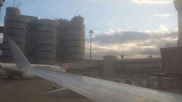 朝靄がかかった羽田空港☆